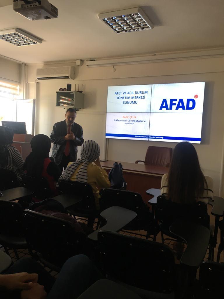 Erzincan İl AFAD Müdürlüğü Tarafından Öğrencilerimize Ders Verildi